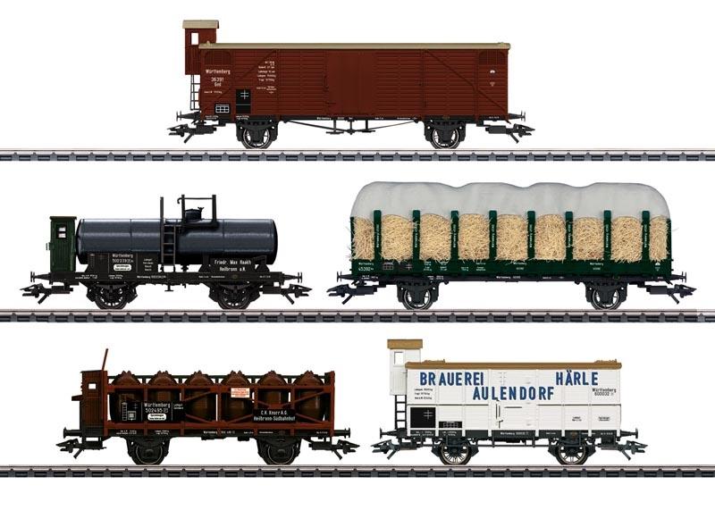 Güterwagen-Set 175 Jahre Eisenbahn in Württemberg, Spur H0