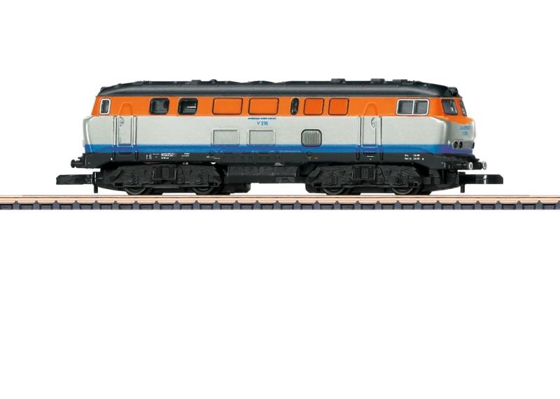Diesellokomotive Baureihe V 216 der WEG, Spur Z