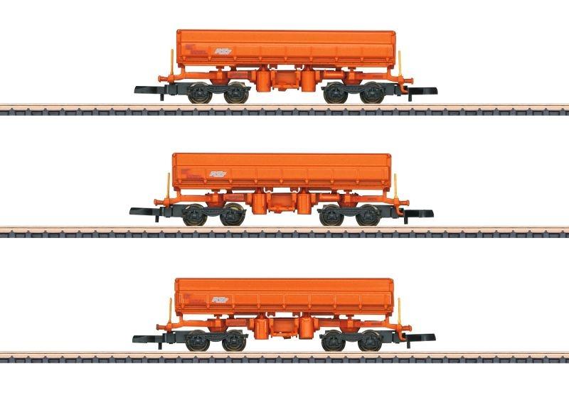Seitenkippwagen-Set Eamos der RTS, Spur Z