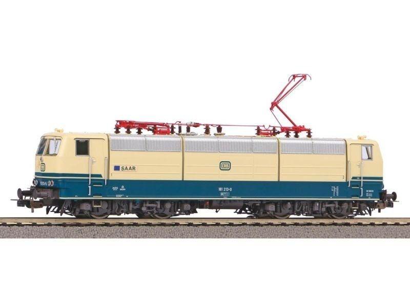 Sound-E-Lok BR 181.2 der DB Saar beigeblau, Ep. IV, DC, H0