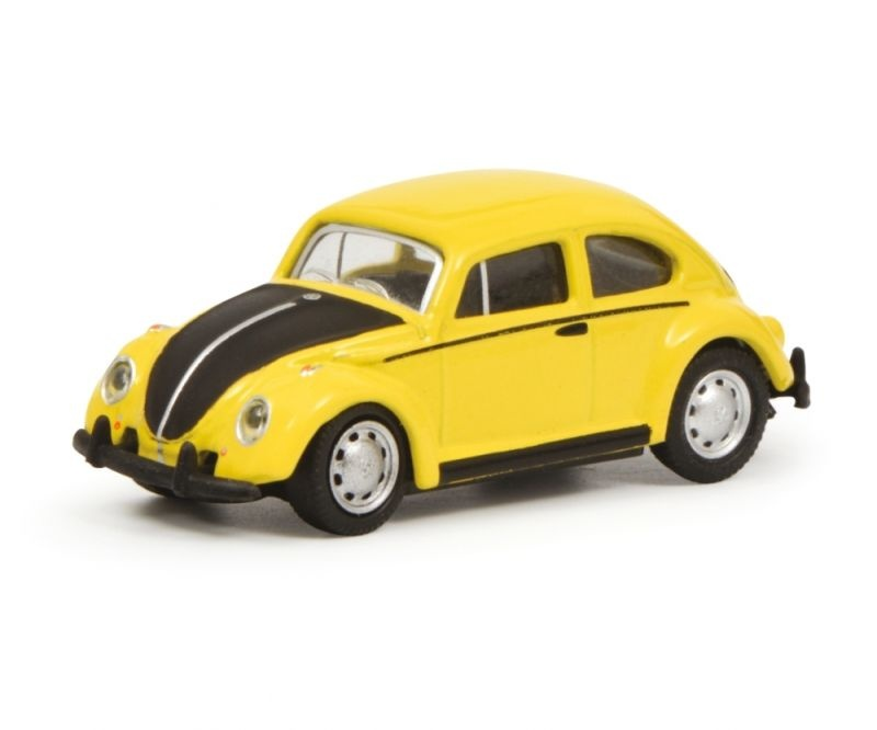 VW Käfer, gelb-schwarz, 1:87 / Spur H0