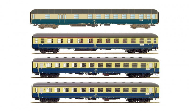 4tlg. Set 1 München-Berlin BDm/Abm/2xBm Ostsee Express DC H0
