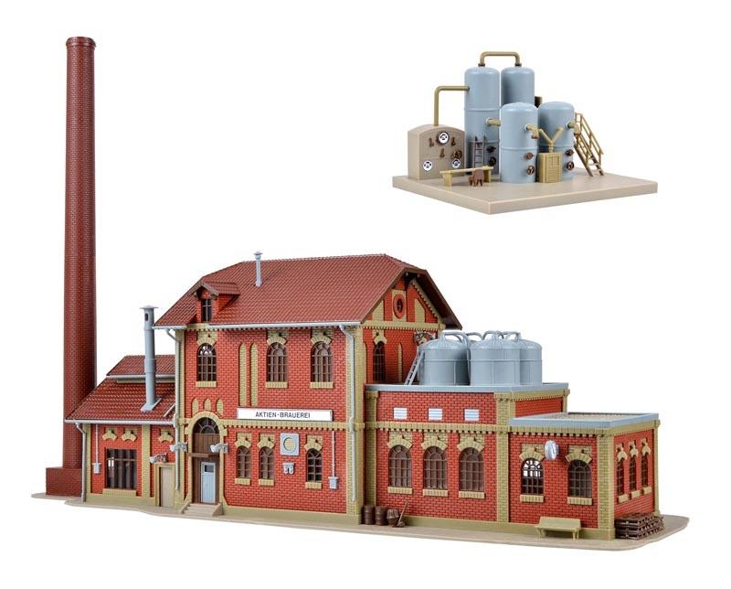 Brauerei mit Inneneinrichtung Kesselhaus, Bausatz, Spur H0
