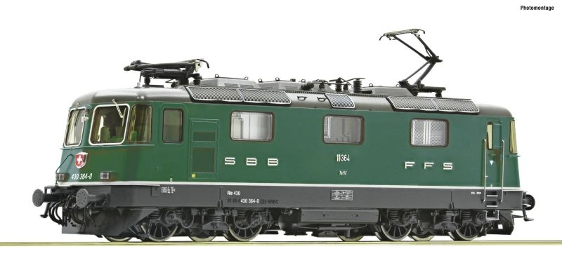 E-Lok Re 430 der SBB grün, Sound, AC, Spur H0