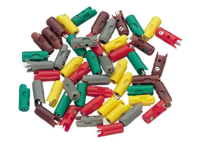 Stecker- und Muffen-Packung (66 Stecker und 34 Muffen)