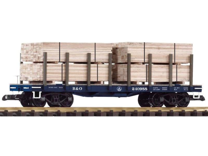 Rungenwagen mit Ladung der Baltimore & Ohio, Spur G