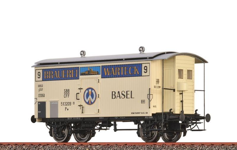 Gedeckter Güterwagen K2 Brauerei Warteck der SBB, DC, H0