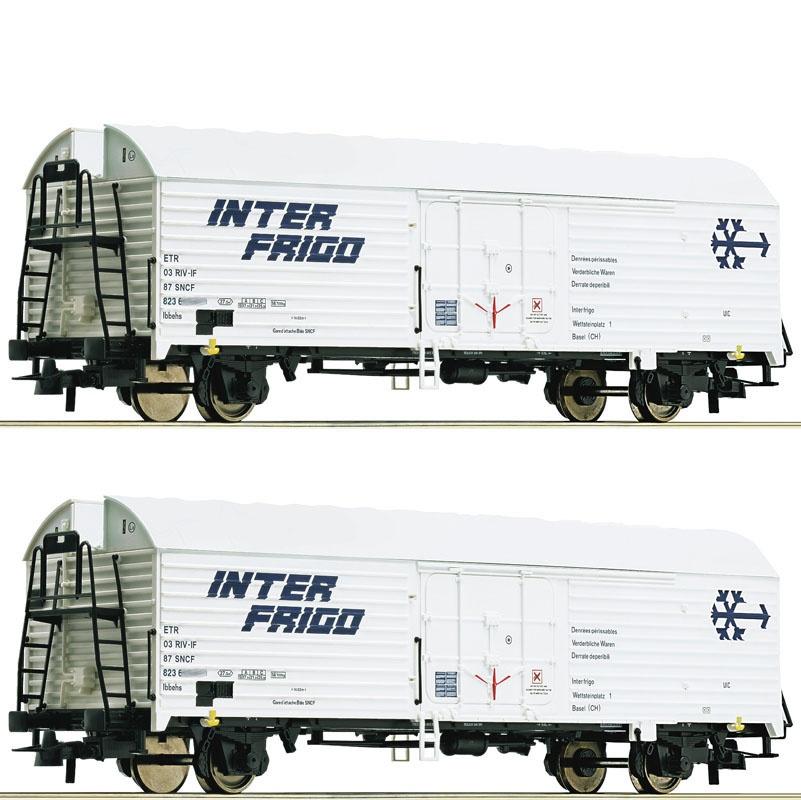 2er Set Kühlwagen der SNCF, DC, Spur H0