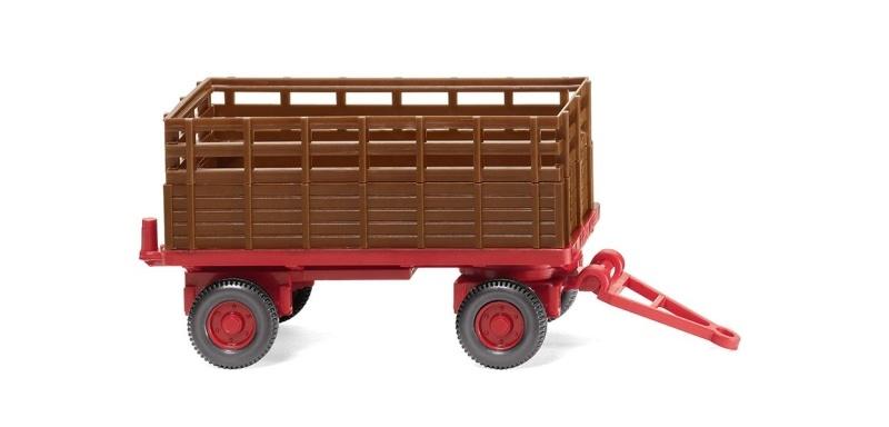 Landwirtschaftlicher Anhänger - rehbraun, 1:87 / Spur H0