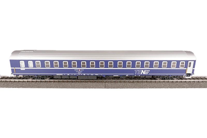 Schlafwagen T2s der SBB, blau, TEN, Epoche IV, DC, Spur H0