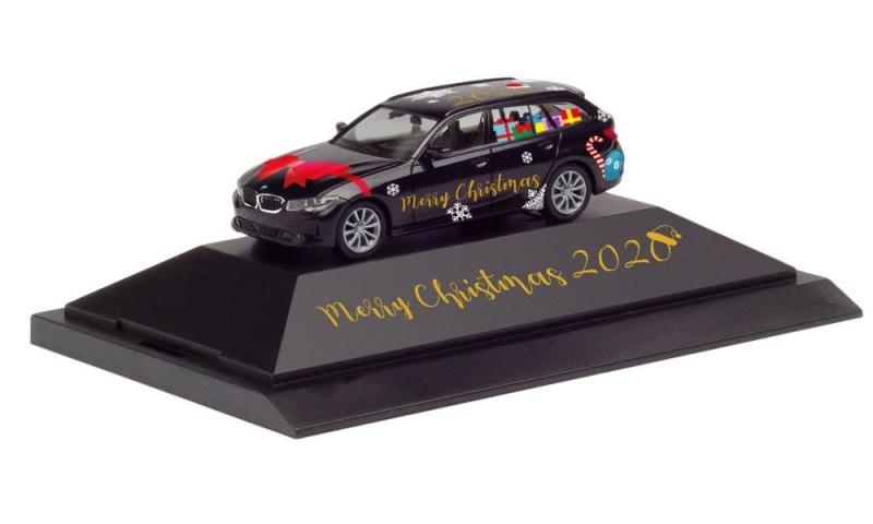 BMW 3er Touring Herpa Weihnachts-PKW 2020, 1:87, H0