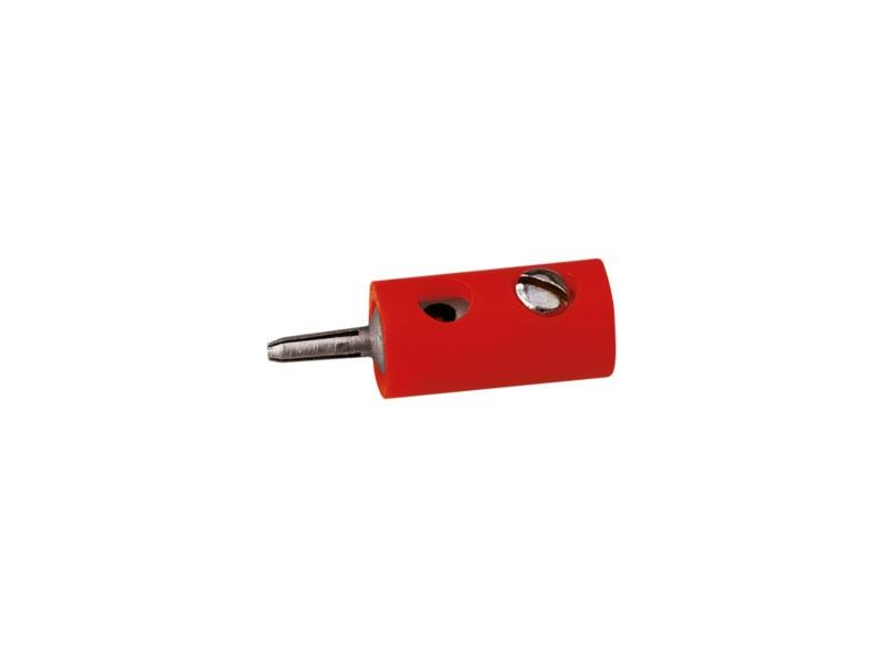 Stecker rund, rot, 2,5 mm [10 Stück]