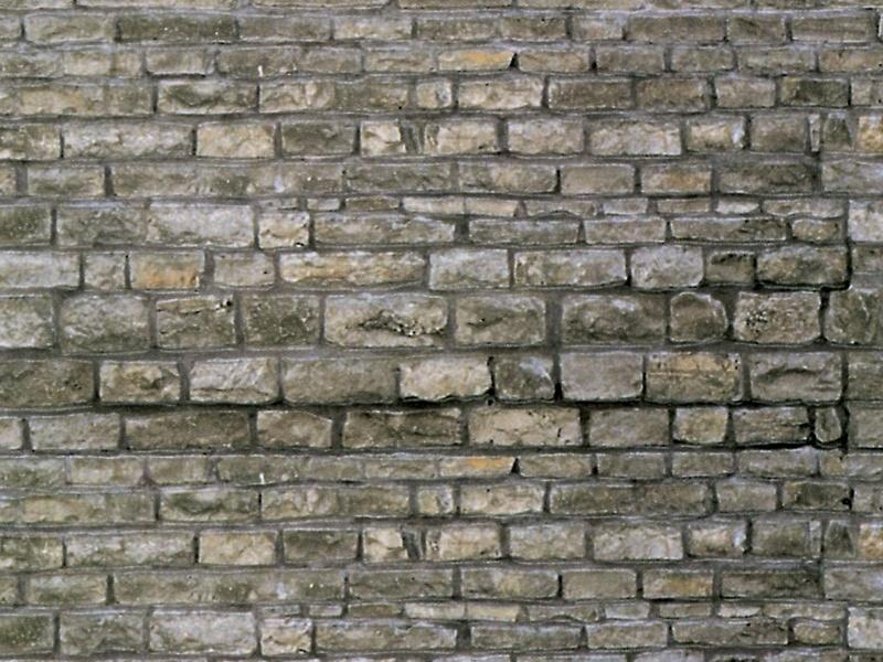Mauerplatte Granit aus Karton, 25 x 12,5 cm, Spur H0