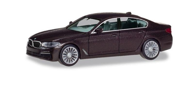 BMW 5er Limousine, Jatoba metallic, 1:87 / H0