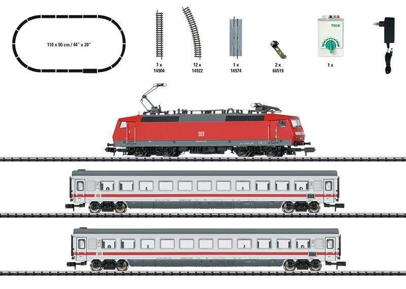 Startpackung InterCity der DB AG mit Schienenoval, Spur N