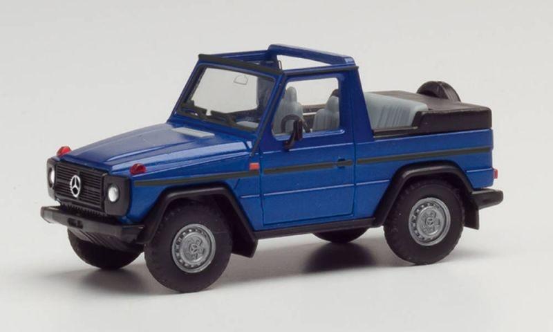 Mercedes-Benz G-Modell Cabrio, hellblau metallic, H0, 1:87