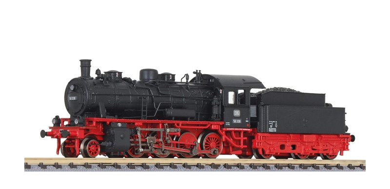 Schlepptenderlokomotive BR 56 338 der DB, Spur N
