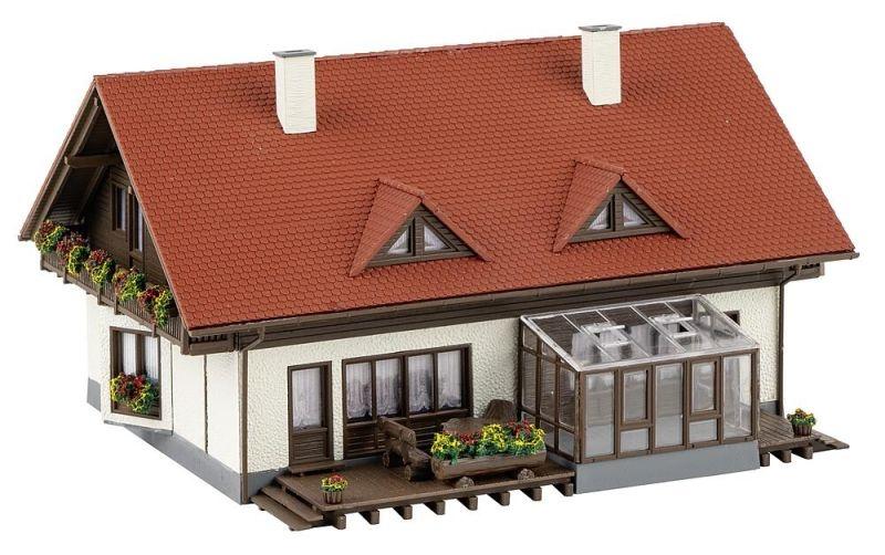 Doppelhaus Moosgrund Bausatz, Spur H0