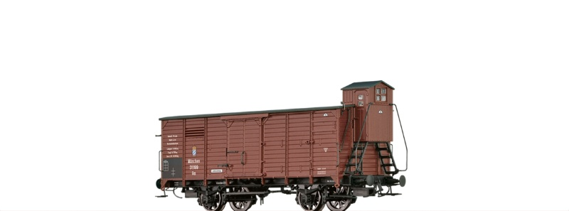 Gedeckter Güterwagen Gm der K.Bay.Sts.B., DC, Spur H0