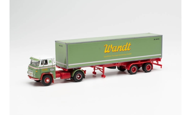 Scania Vabis LB 76 Container-Sattelzug Spedition Wandt, H0