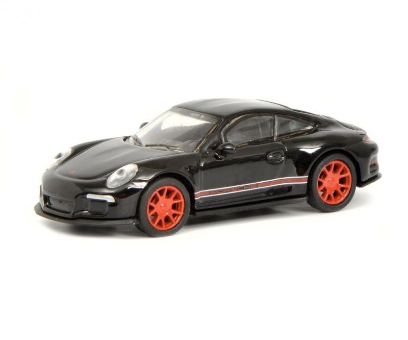 Porsche 911 R (991), schwarz/rot 1:87 / Spur H0