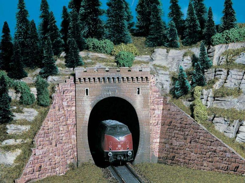 Tunnelportal, eingleisig, 2 Stück, Bausatz, Spur H0