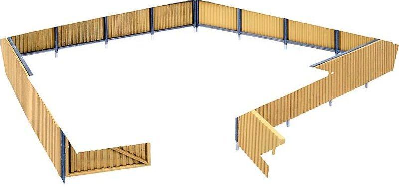 Wellblech-Zaun, Bausatz, Spur H0