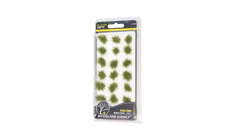 Mit Peel n Place Mittelgrüne Grasbüschel