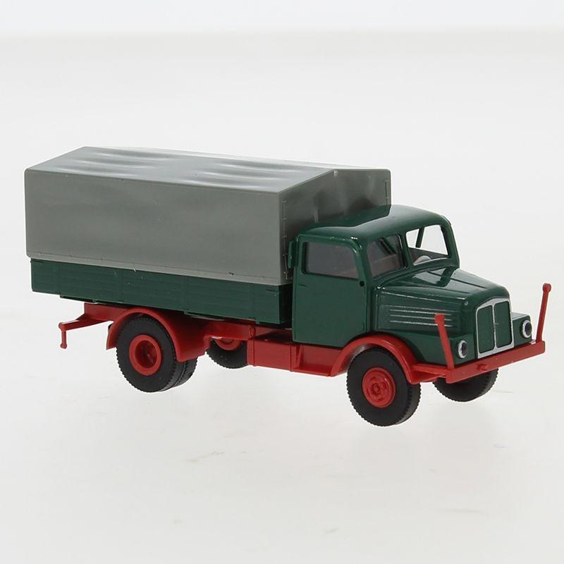 IFA S 4000-1 PP, dunkelgrün/rot, 1960, 1:87 / H0