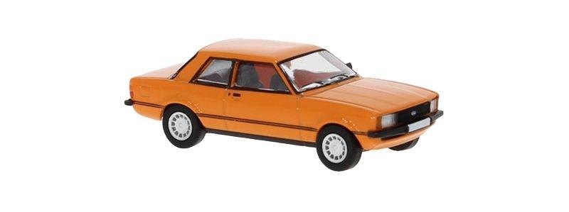 Ford taunus TC2, orange, 1976, 1:87 / Spur H0