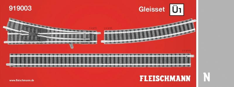 Gleiserweiterungsset Ü1, Überholgleis 1 N-Gleis mit Bettung