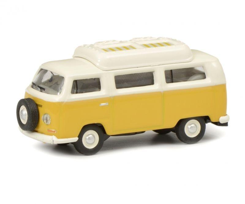 VW T2a Camping Bus geschlossenes Dach, gelb weiß, 1:87 / H0
