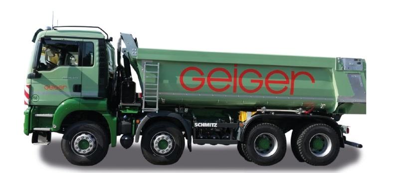 MAN TGS M Euro 6c Rundmulden-LKW 4-achs Geiger, H0