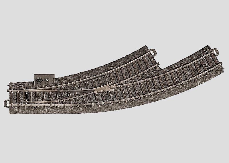 Bogenweiche links Radius 1=360 mm 30° Spur H0 C-Gleis
