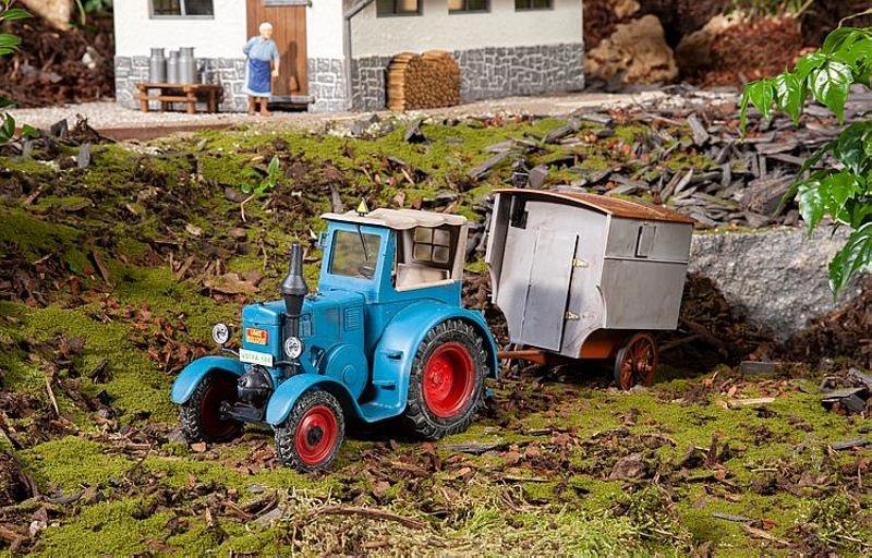 Bulldog mit Schäferwagen, Bausatz, Spur G