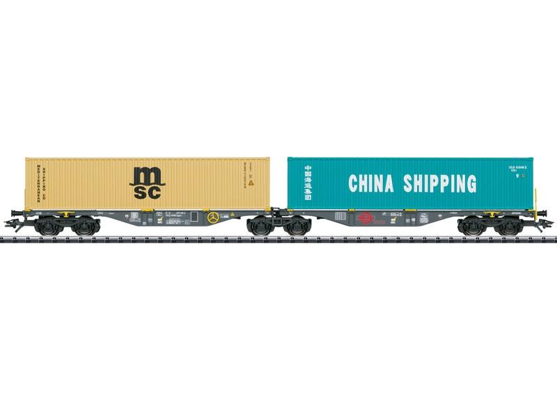 Doppel-Containertragwagen Sggrss 80, DC, Spur H0