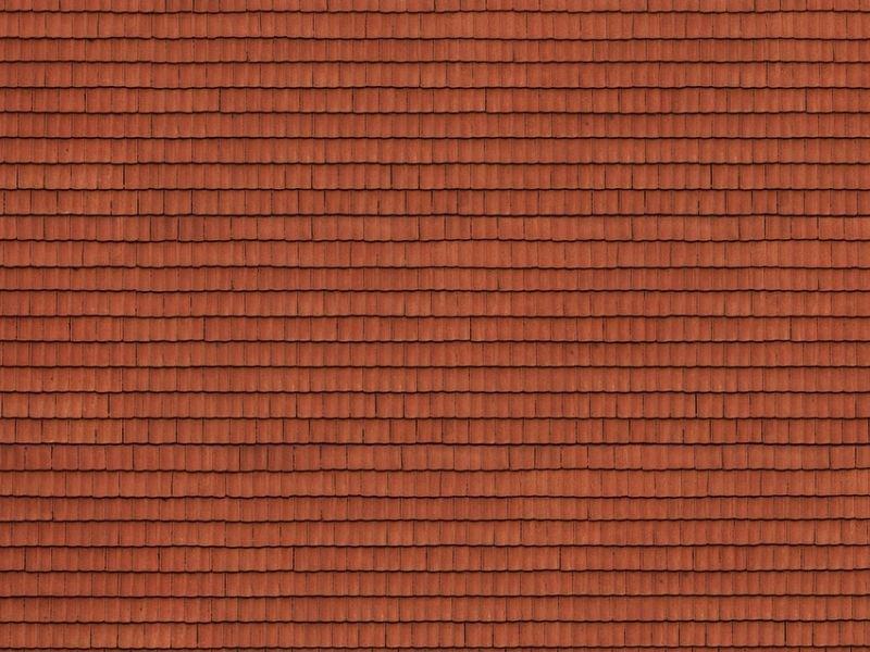 3D Kartonplatte Dachziegel rot, Spur H0
