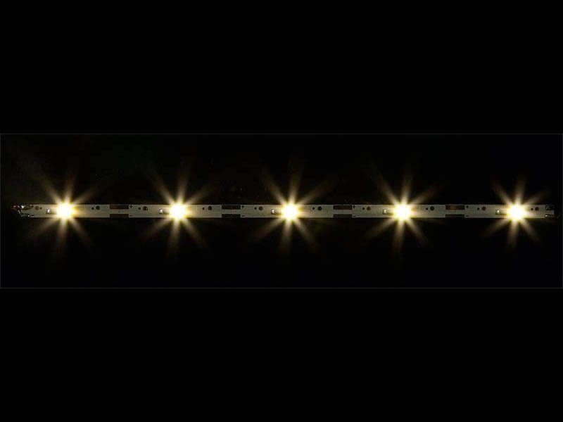 2 LED-Lichtleisten mit je 5 LEDs, warm weiß, je 180 mm