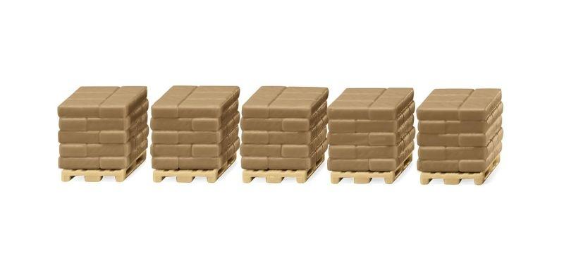 Baustoffe III, Zementsack-Paletten, 1:87, H0