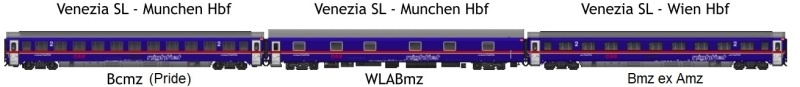 NIGHTJET Set 3 - 3tlg. EN236/237 Venezia-Munich, DC, Spur H0