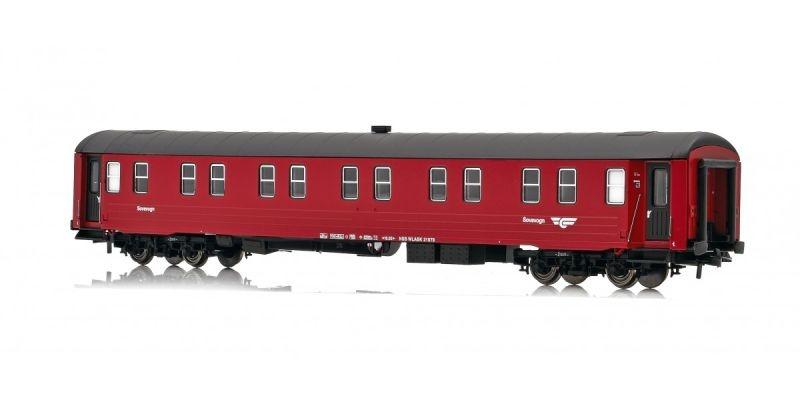 Topline Schlafwagen WLABK 21079 der NSB, rot / schwarz, H0