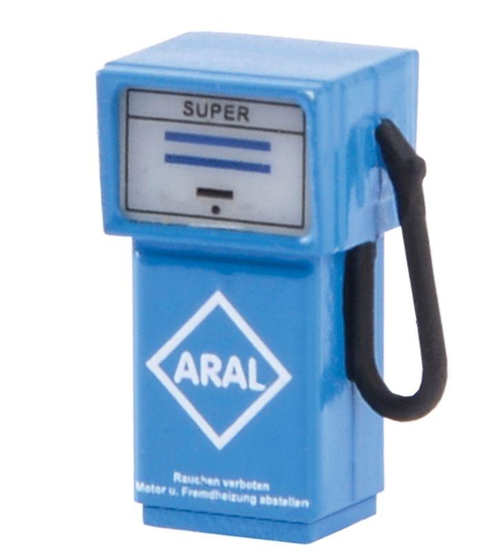 Zapfsäule ARAL mit LED-Beleuchtung Spur H0