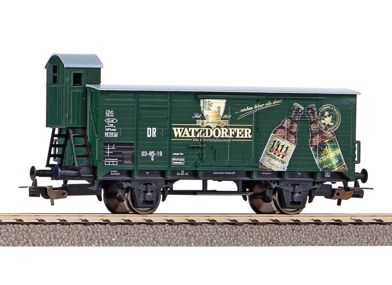 Gedeckter Güterwagen Watzdorfer Bier der DR, Ep. III, DC, H0