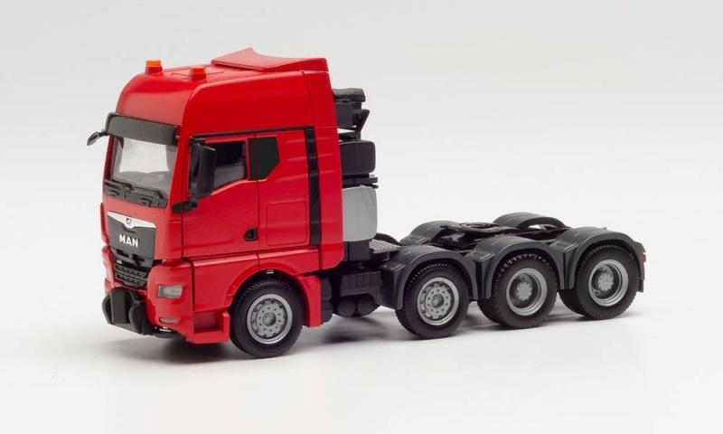 MAN TGX GX Schwerlastzugmaschine, rot, 1:87 / H0