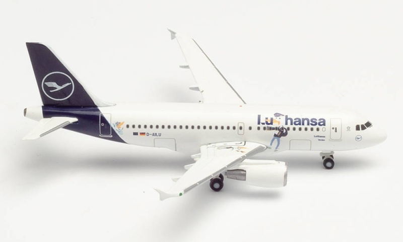 Lufthansa Airbus A319 Lu & Cosmo, 1:500