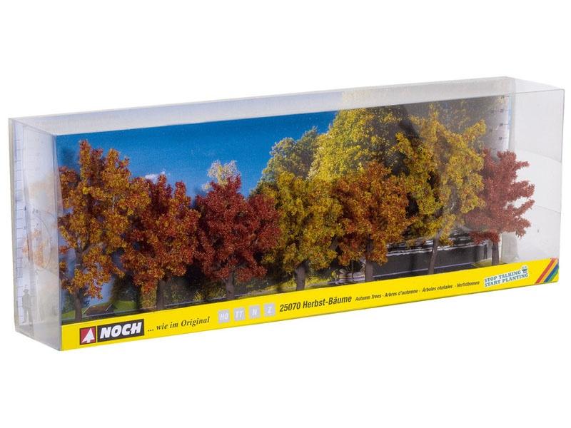 Herbstbäume, 7 Stück, ca. 8 - 10 cm hoch