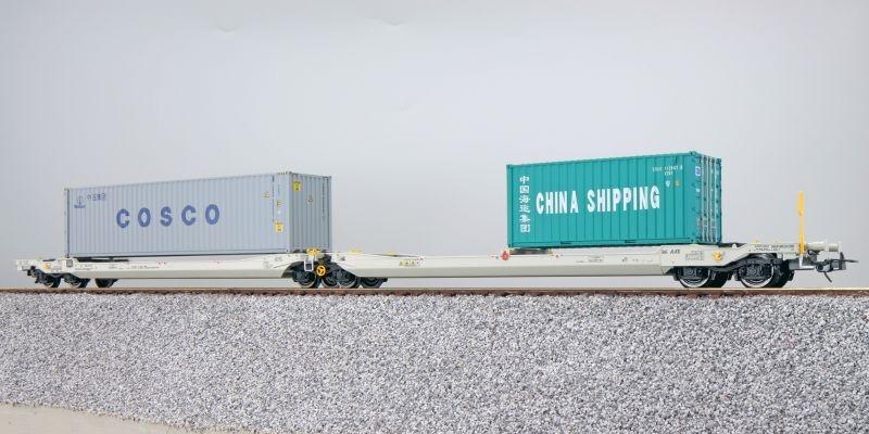 Taschenwagen Sdggmrs NL-AAEC + Container CBHU/CSLU, DC, H0