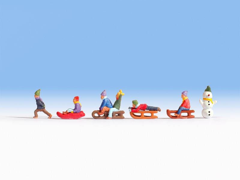 Kinder im Schnee Figuren Spur N