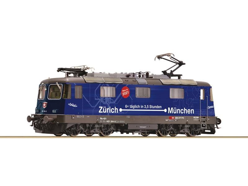 E-Lok Re 421 der SBB Zürich-München, DC, Spur H0