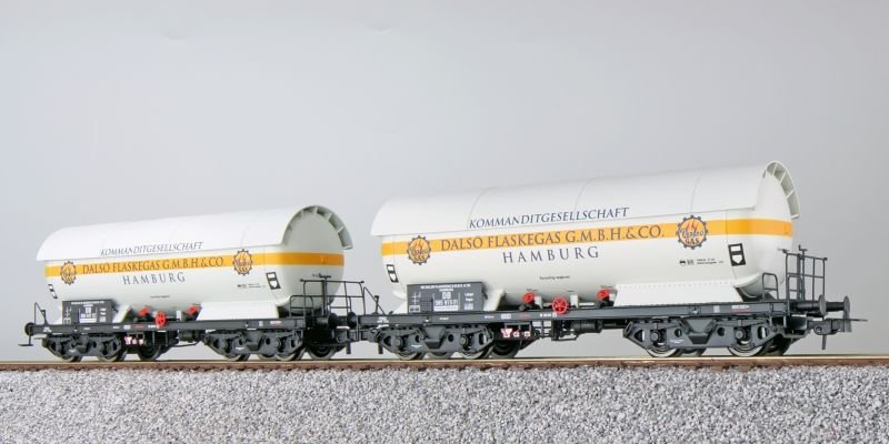 Gas-Kesselwagen Set ZAG 620, Dalsö, DB, weiß, DC, H0